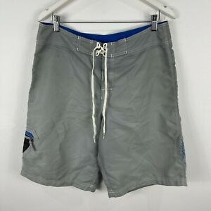 Billabong-Mens-Board-Shorts-34-Grey-Tie-Closure