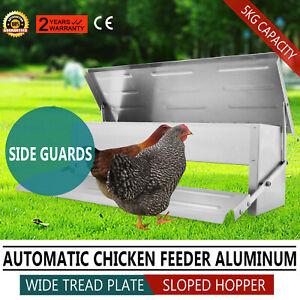 Mangiatoia-Automatica-a-Pedale-Alluminio-5kg-KG-per-Polli-Galline-Impermeabile