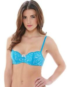 3bd9200881092 B.Tempt d Ciao Bella by Wacoal Balcony Bra 953144 Blithe Blue New ...