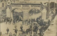 Montrose CO Gunnison Tunnel Opening Parade 1909 Real Photo Postcard