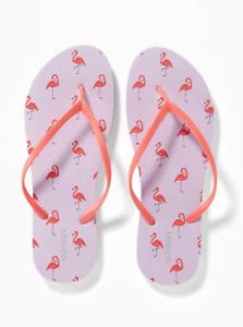 da496e93e48357 NWT Womens Old Navy(NEW ARRIVAL)Pink Flamingo Flip Flop Sizes 7