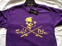 N Men Salt Life Skull & Poles Lsu Tigers Purple Boat Surf Dive Fishing T Shirt S