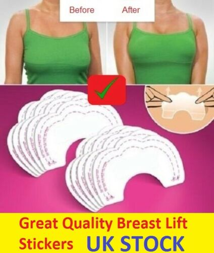 20x Instant Bare Breast Lift Invisible Bra Tape Boob Shape Cleavage Enhancer UK