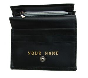 Ladies-Purse-Personalised-with-any-name-you-want-Cows-leather-Black