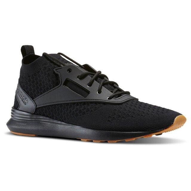 Reebok Zoku Runner UltraKnit Gum (Black Ash Grey-Gum) Men's shoes BD5481