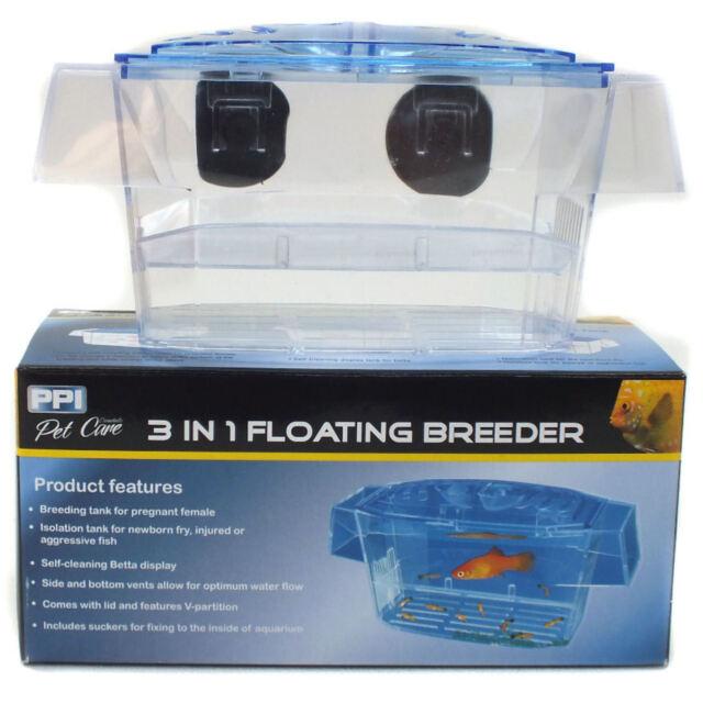 Aquarium Fish Breeding Tank/Fry Trap Hatchery - 3 In 1 PPI Floating Breeder
