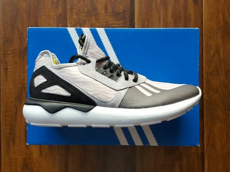 * * * neue ds - adidas tubuläre läufer grau - ds schwarz - weiße schiff * * * 49456c