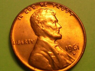 *1961-D BU* Lincoln Wheat Cent  copper