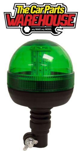 Maypole MP 40934 LED Hazard Warning GREEN FLEXI POLE MOUNT LED BEACON R10 IP66