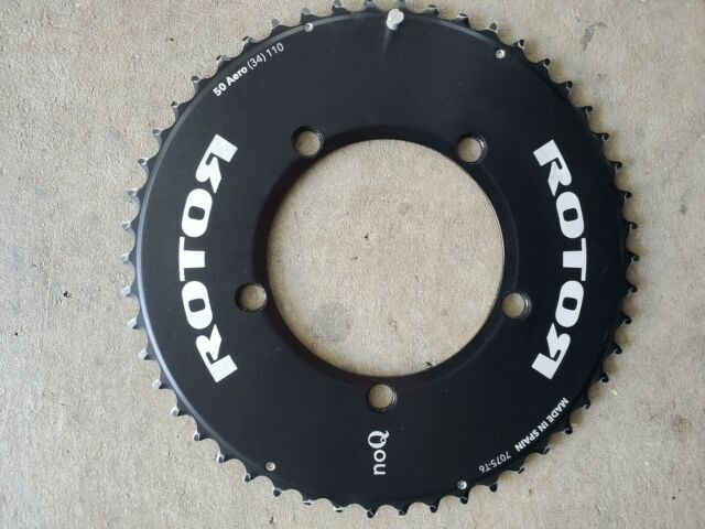 """Black Rotor NoQ Track BCD144x5 1//8"""" Outer Round Chainring 45T-56T Aero"""