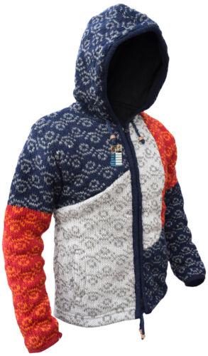 con patchwork in lana foderata cappuccio con invernale lana in Felpa 4wSxpPqS