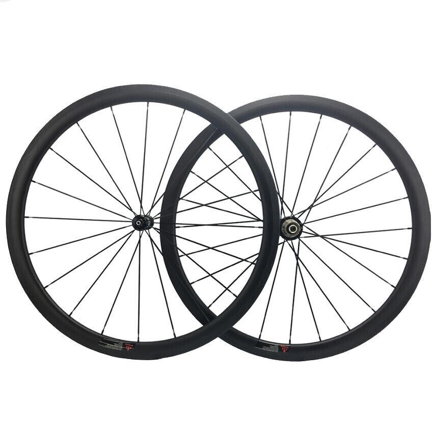 1325g Carbon Road Wheels 38mm Clincher Bike Wheelset Road Hub1420 424 Spoke 700C