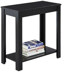 Details about Small Chair Side Table Living Room Wood End Table Shelf  Accent Side Black 24\