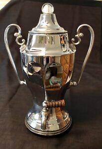 Vintage-Coffee-Maker-Continental-Silver-Co-Champion-Art-Deco-Spigot-Chromium-Pl