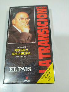 Referendum-para-la-Reforma-La-transicion-Espanola-RTVE-VHS-Cinta-Tape-Nueva