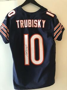 new concept 9419c 1f924 Details about Mitchell Trubisky Signed Authentic Jersey