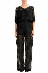 Maison-Margiela-1-Wool-Silk-Black-Women-039-s-Jumpsuit-US-XS-IT-38