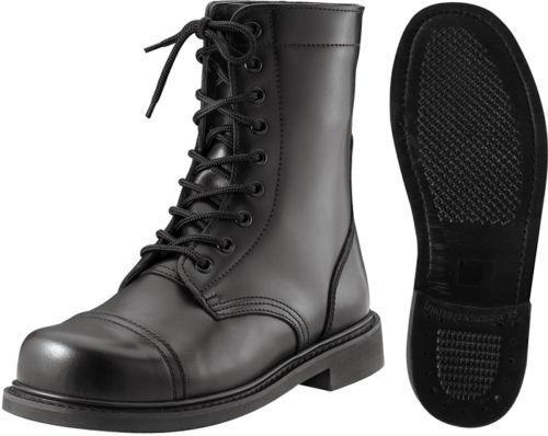 Stivali Neri Combattimento Acciaio Codolo pelle Tattico Militare rossohco 5075 | Lascia che i nostri beni escano nel mondo  | Uomo/Donna Scarpa