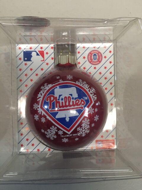 PHILADELPHIA PHILLIES RED MLB CHRISTMAS ORNAMENTS FREE ...