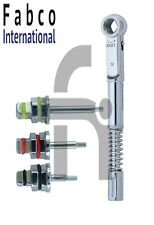 Dental Implant Universal Torque Wrench 10 50 Ncm With Hex Drivers 125mm