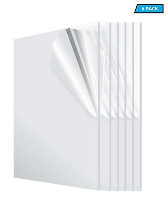 Thick  24 in 3-Pack AdirOffice Clear Acrylic Plexiglass Sheet 1//8 in x 48 in