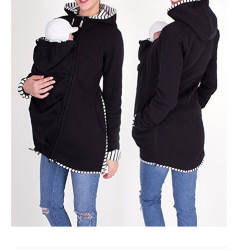 Women/'s Baby Carrier Safe Jacket Maternity Pregnant Outerwear Coat Fashion UK