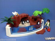 (M155) playmobil set bassin pingouins zoo 3240 4462 4468