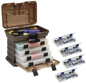 Tackle Box 4 Tray Fishing Tool Storage Organizer Small Bait Tools Plano New