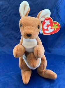 12b6b8d06b2 TY VERY RARE Pouch Beanie Baby With Pouch Tush Tag With Errors