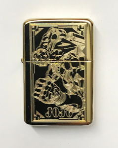 JoJo-The-World-LIGHTER-gold-finish-with-Gift-Box-JJBA-Bizarre-Adventure
