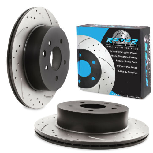 REAR DRILLED GROOVED 292mm BRAKE DISCS PAIR FOR NISSAN QASHQAI 1.5 1.6 DCi 2.0