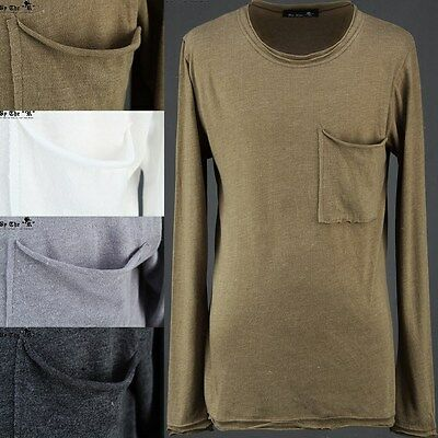 ByTheR Casual Basic Long Sleeve T-shirt  Cotton Muli Color Solid NWT P000BEWD AU