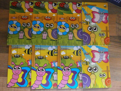CHILDRENS NOTE PADS* PARTY BAG FILLERS**INSECT X 10