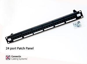 24-port-patch-bay-panel-gigabit-ready-rack-mounted-krone-type-cat5e
