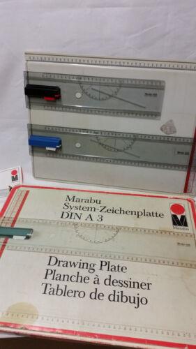 Art Zusatz 4418 Zeichenschiene Marabu System Zeichenplatte DIN A3 4283