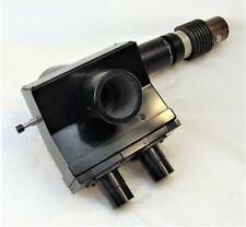Leitz Wetzlar Trinocular Microscope Head With Illuminator Tube Attachment 1x