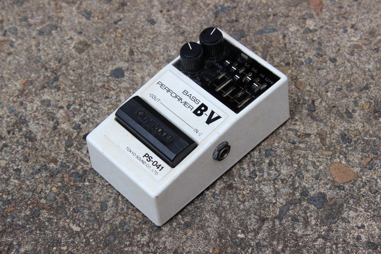 1990 Guyatone PS-041 B-V Bass Performer Boost EQ MIJ Japan Effects Pedal