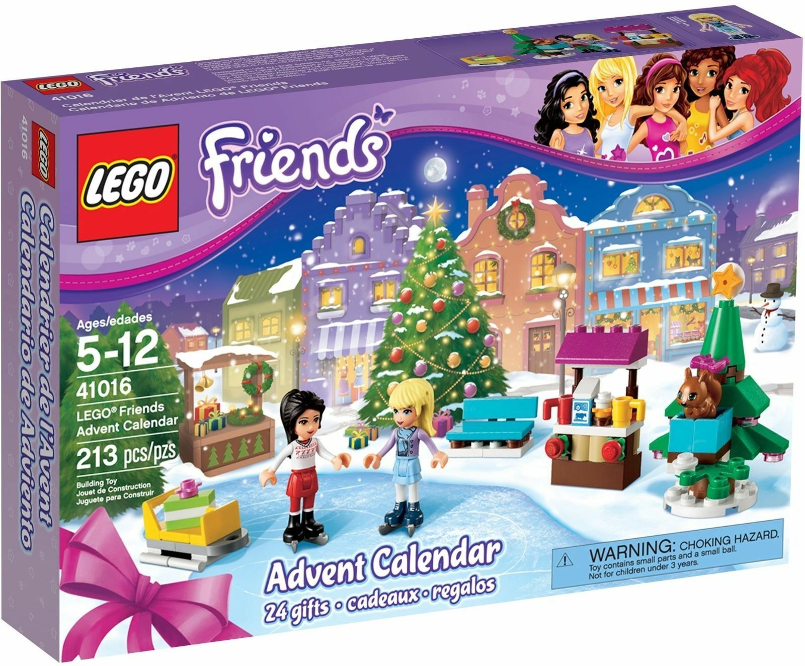 Lego  41016 Lego Friends 213 pieces 5-12 years Advent Calendar NIB 2013 RETIrosso