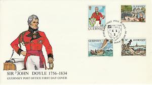 Guernsey 20 de noviembre de 1984 Sir John Doyle primer día cubierta Guernsey Shs