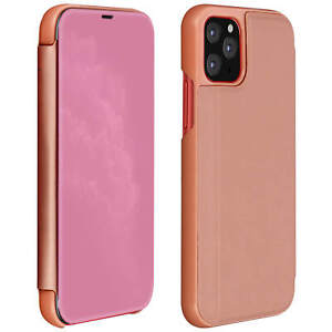 Flip-Case-Mirror-Case-for-Apple-iPhone-11-Pro-Max-Standing-Cover-Rose-gold