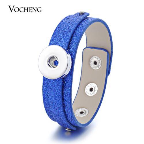 Vocheng 10 Couleurs PU Cuir 18 mm À faire soi-même Freestyle Bouton Chunk Bracelet NN-388