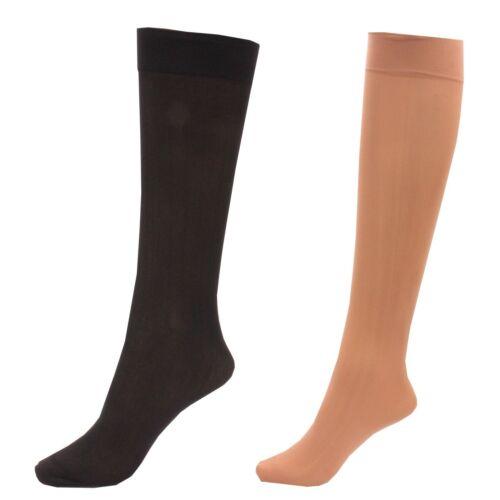 3 x Ladies //Women 80 Denier Knee High Trouser Pop Socks