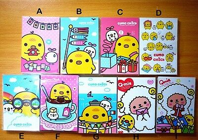 Cute Taiwan Cumo Chick Memo Pad Notepad (70 sheets /5 designs x 14 Sheets)