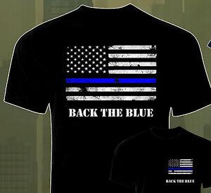 NEW! Blue Line Flag Police Officer Blue Lives Matter Back The Blue ... 3a3ef0a30f52