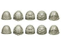 Spellcrow - 10x Epaulettes Space Marine Du Chaos Warhammer 40k Bitz