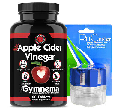 Weight Loss Apple Cider Vinegar W Garcinia Cambogia Acv 1 Pk Pill Crusher Ebay