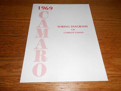 1969 chevrolet camaro wiring diagram manual / '69 chevy diagrams rs ss z28  etc  ebay