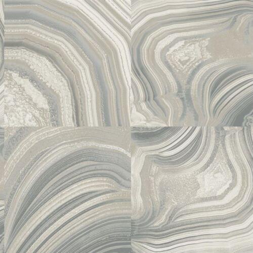 Textured Vinyl Modern Marble Effect Wallpaper Grey Silver Glitter Shimmer Crown
