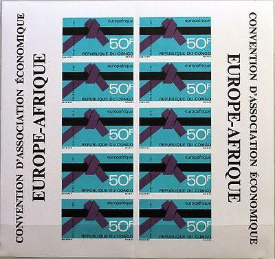 Hilfreich Kongo Brazzaville 1969 181 U C84 Sheet Europafrique Wirtschaft Economy Mnh HüBsch Und Bunt