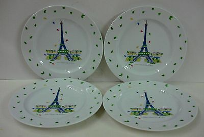 France Vieux Paris EIFFEL TOWER Set of FOUR Dessert Plates & dinnerware collection on eBay!